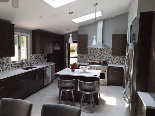 Quincy Kitchen Renovation With Skylights And Detailed Tiling